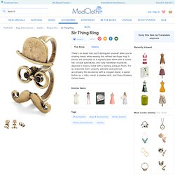 Sir Thing Ring | Mod Retro Vintage Rings