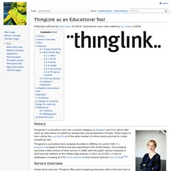 ThingLink as an Educational Tool