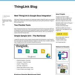 New! ThingLink & Google Docs Integration