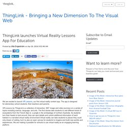 launches Virtual Reality Lessons App For Education