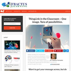 ThingLink in the Classroom - One image. Tons of possibilities.