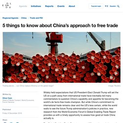 5 things to know about China's approach to free trade