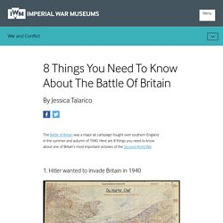 8 Things You Need To Know About The Battle Of Britain
