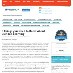 8 Things you Need to Know About Blended Learning