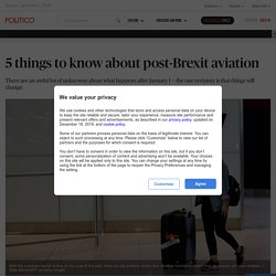 5 things to know about post-Brexit aviation