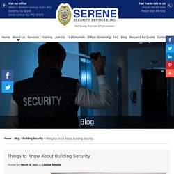 Things to Know About Building Security