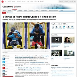 5 things to know about China's 1-child policy