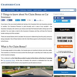 5 Things to know about No Claim Bonus on Car Insurance