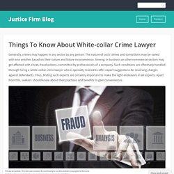 Things To Know About White-collar Crime Lawyer
