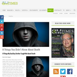 8 Things You Didn't Know About Death - OMTimes