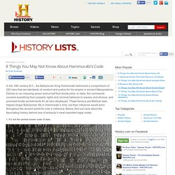 8 Things You May Not Know About Hammurabi's Code — HISTORY Lists
