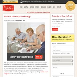 Things to Know About Memory Screening