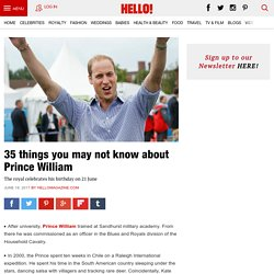 35 things you may not know about Prince William