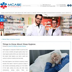 Things to Know About Sleep Hygiene