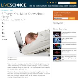 5 Things You Must Know About Sleep