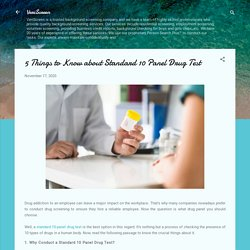 5 Things to Know about Standard 10 Panel Drug Test