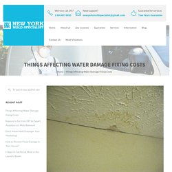 Things Affecting Water Damage Fixing Costs