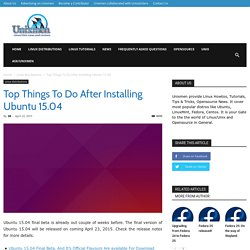 Top Things to do after installing Ubuntu 11.04 Natty Narwhal