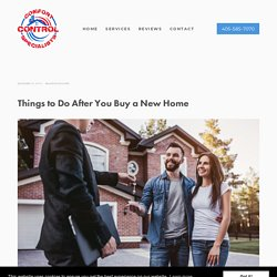 Things to Do After You Buy a New Home
