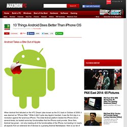 10 Things Android Does Better Than iPhone OS | Maximum PC
