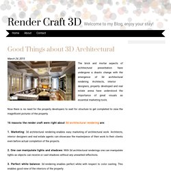 Good Things about 3D Architectural