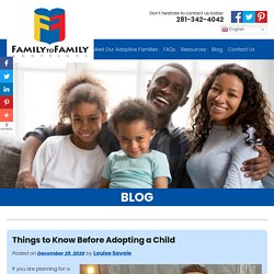 Things to Know Before Adopting a Child