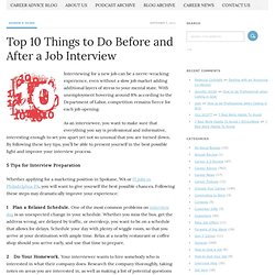 Top 10 Things to Do Before and After a Job Interview - Jobacle.com BLOG - Career Advice Blog