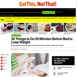 30 Things to Before Bed to Lose Weight