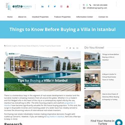 Things to Know Before Buying a Villa in Istanbul