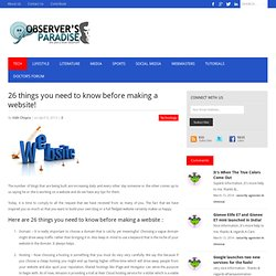 26 things you need to know before making a website!