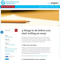 4 things to do before you start writing an essay