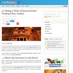10 Things I Wish I'd known before Visiting Petra, Jordan