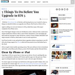 5 Things To Do Before You Upgrade to iOS 5