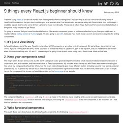9 things every React.js beginner should know - Cam Jackson