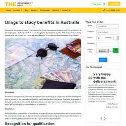 Know The best things to study benefits in Australia