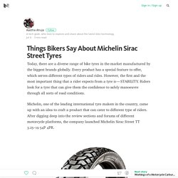Things Bikers Say About Michelin Sirac Street Tyres – Medium
