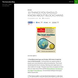 10 Things You Should Know About Blockchain