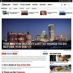 33 Best Things To Do in Boston Before You Die - Boston Bucket List