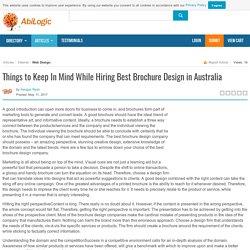 Things to Keep In Mind While Hiring Best Brochure Design in Australia