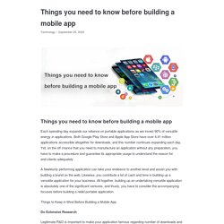 Things you need to know before building a mobile app - Appkineticsllc