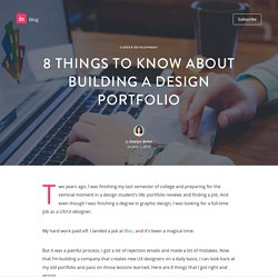 8 things to know about building a design portfolio