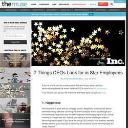 7 Things CEOs Look for in Star Employees