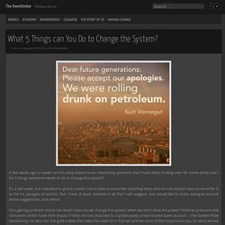 What 5 Things can You Do to Change the System?