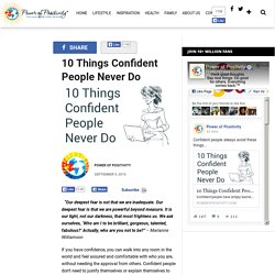 10 Things Confident People Never Do