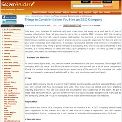 Things to Consider Before You Hire an SEO Company