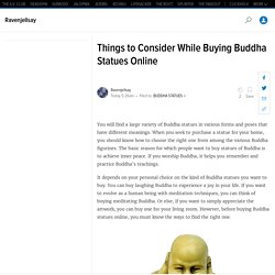Things to Consider While Buying Buddha Statues Online