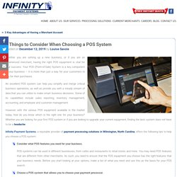 3 Things to Consider When Choosing a POS System