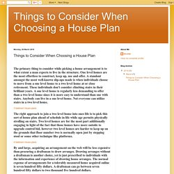 Things to Consider When Choosing a House Plan