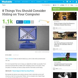 8 Things You Should Consider Hiding on Your Computer
