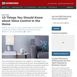 10 Things You Should Know about Voice Control in the Home - Electronic House
